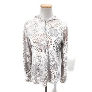 Lucy circle print half-zip size Med